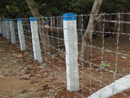 Indusrial Fencing using barbed wire in Andhra Pradesh, Vijayawada, Hyderabad
