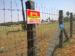Residential Fencing using barbed wire Coimbatore, Madurai, Chennai, Trichy, Tamilnadu